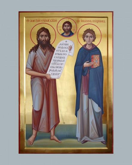 Икона Святых Алексия человека Божия и Иоанна Кушника